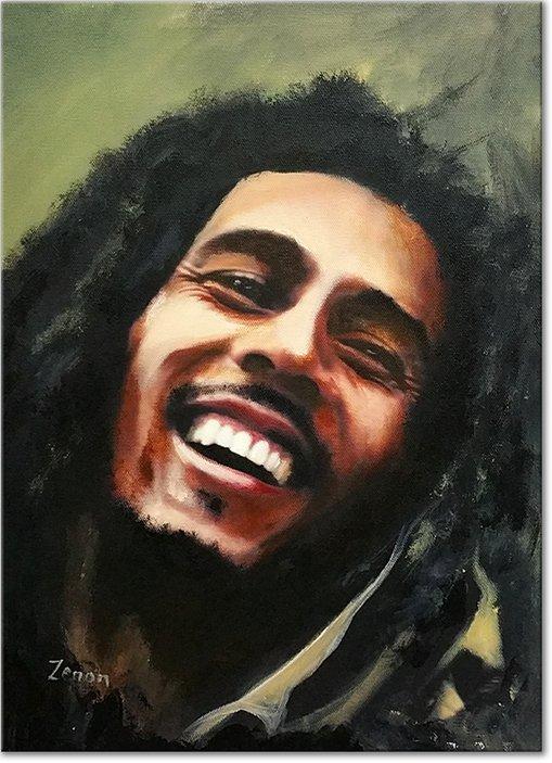 Schilderij Bob Marley Olieverf