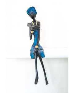 Bronzen beeld Lezende Vrouw