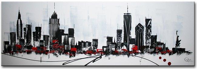 Online abstracte schilderijen for Skyline schilderij