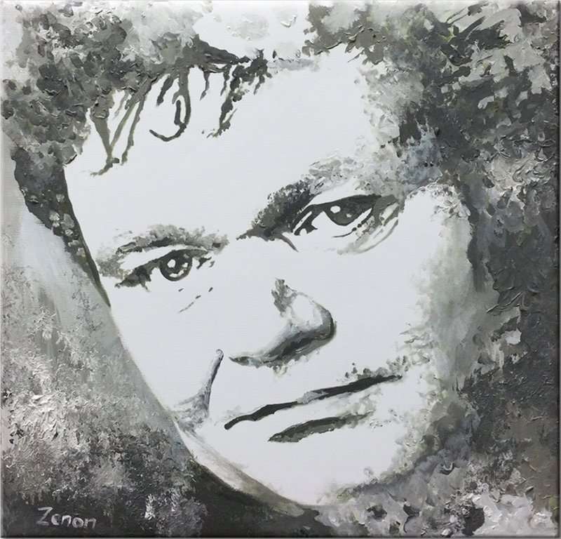 Schilderij Andre Hazes zwart-wit