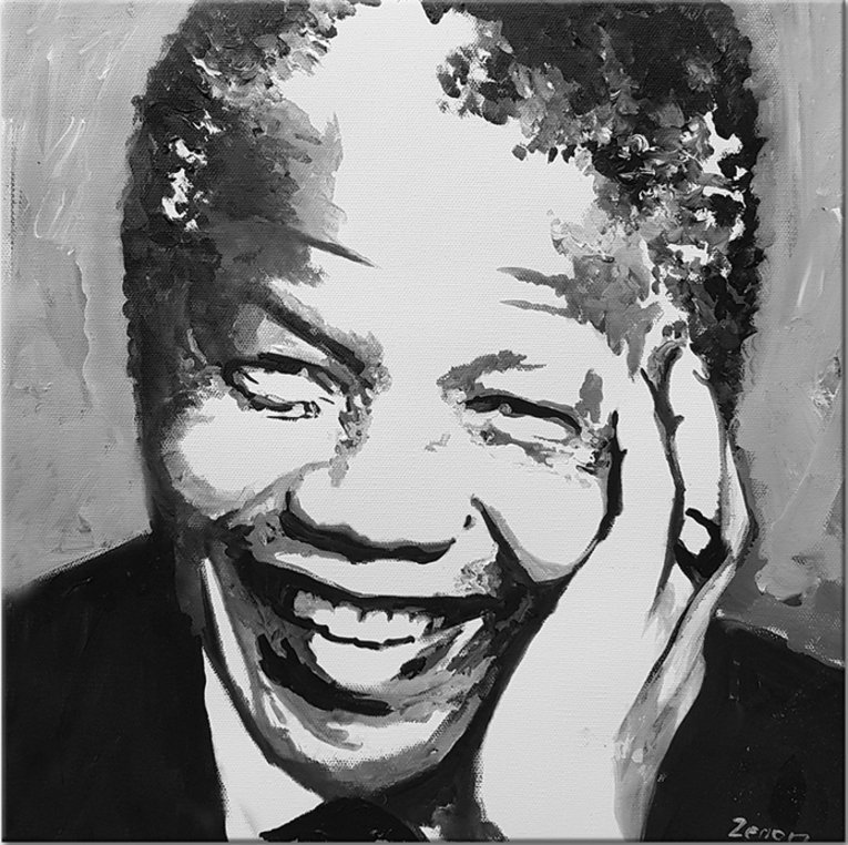 Schilderij Nelson Mandela