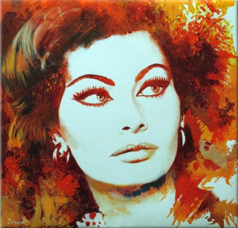 Schilderij Sophia Loren