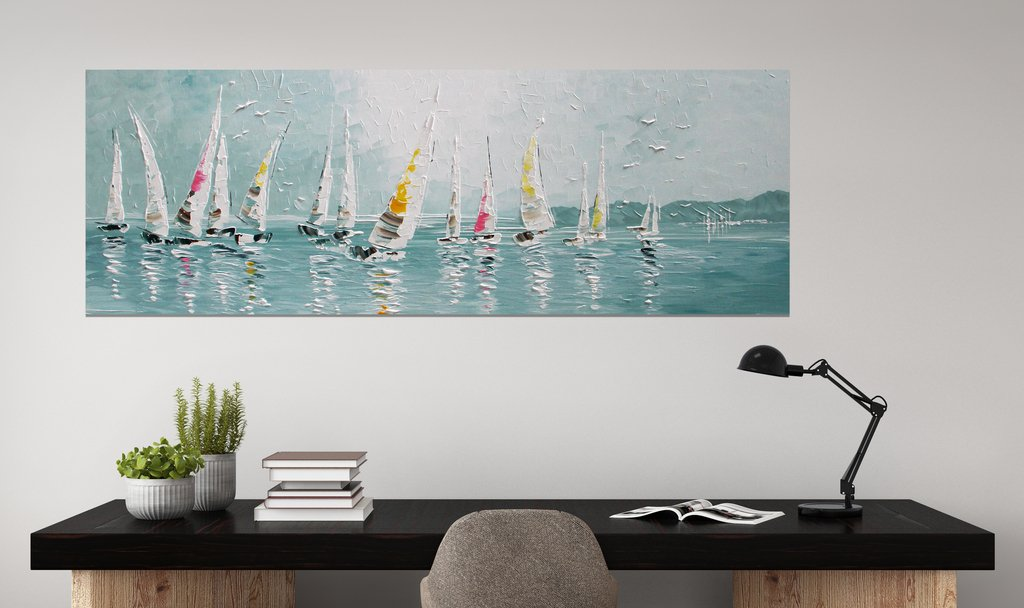 schilderij Regatta van Ines