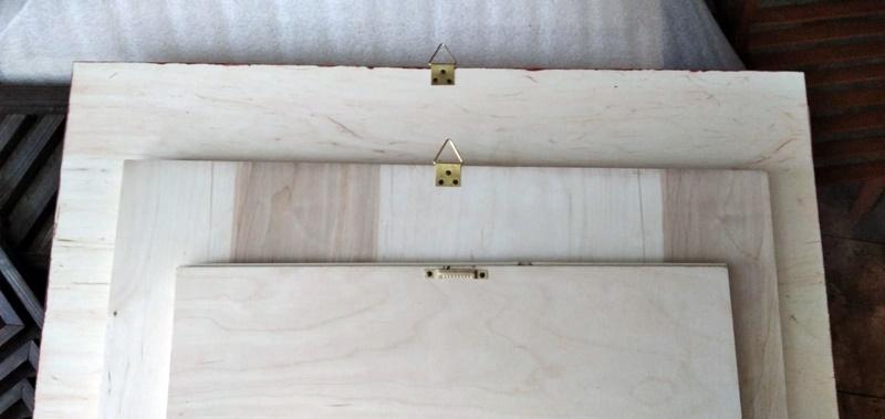 Ophanghaakjes houten wandecoraties