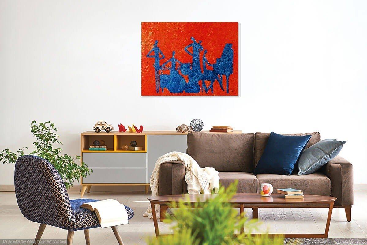 schilderij Abstract Jazz van James