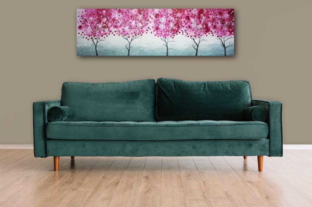 interieurfoto schilderij Cherry Trees van Ines