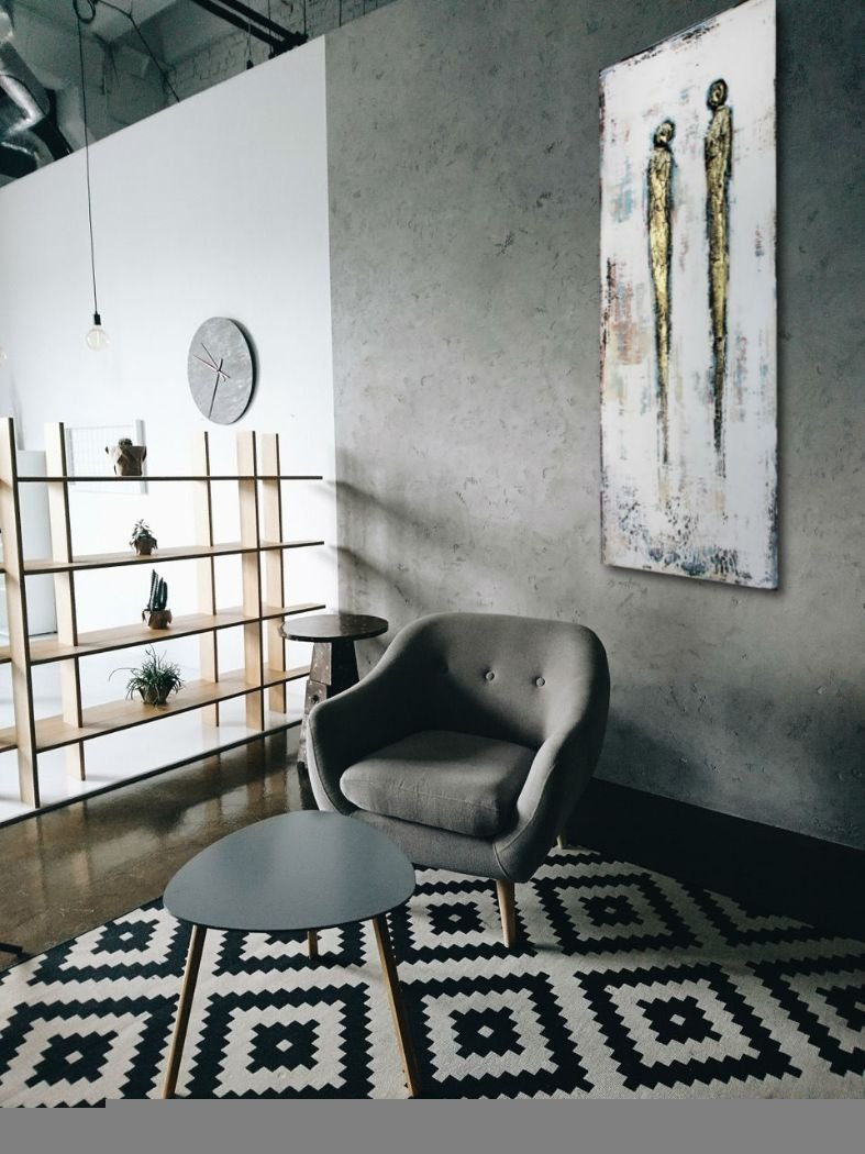 interieurfoto schilderij Close Bond van Ines