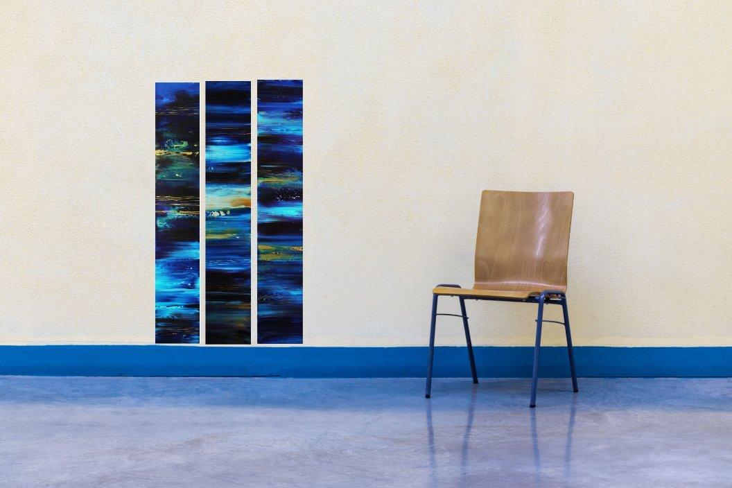 interieurfoto schilderij Eternal Blue van Ines