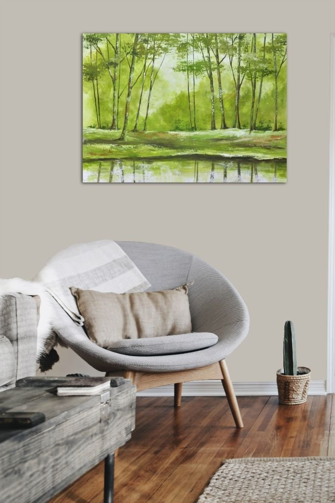 interieurfoto schilderij Forest Impression 2 van Aleksandra