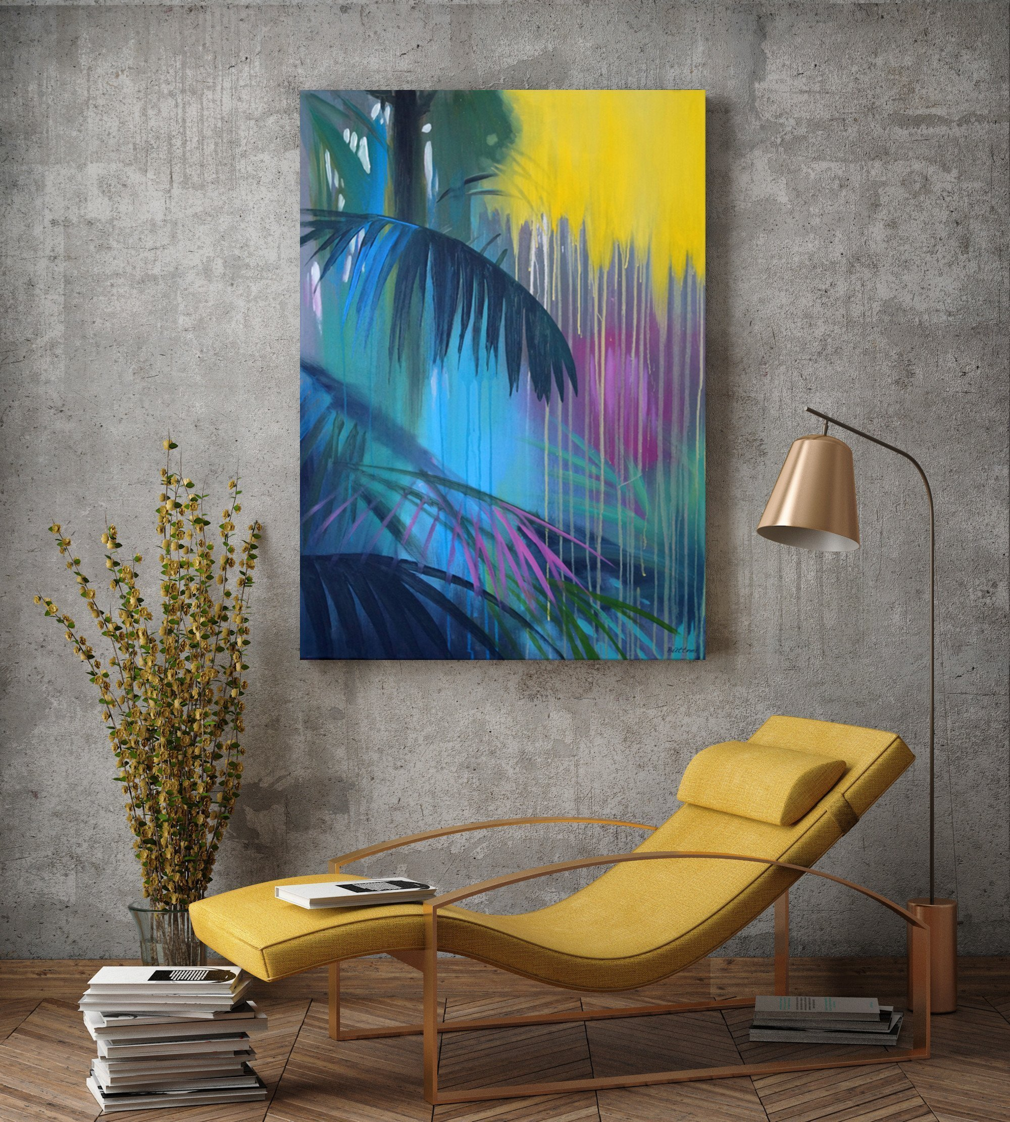 schilderij Landed in the Jungle van Buttner