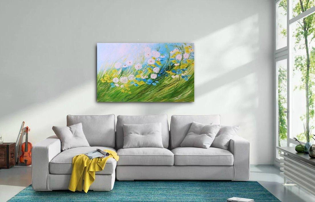 schilderij Spring Meadow van Aleksandra