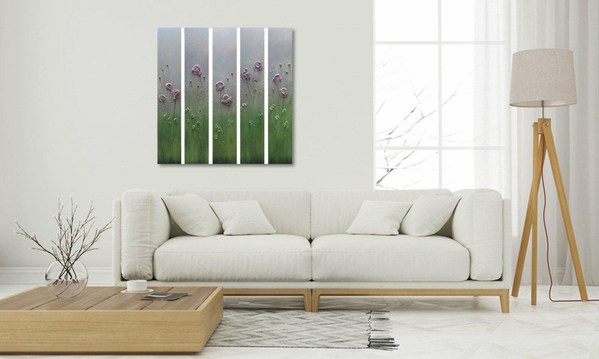 interieurfoto schilderij Summer Roses van Ines