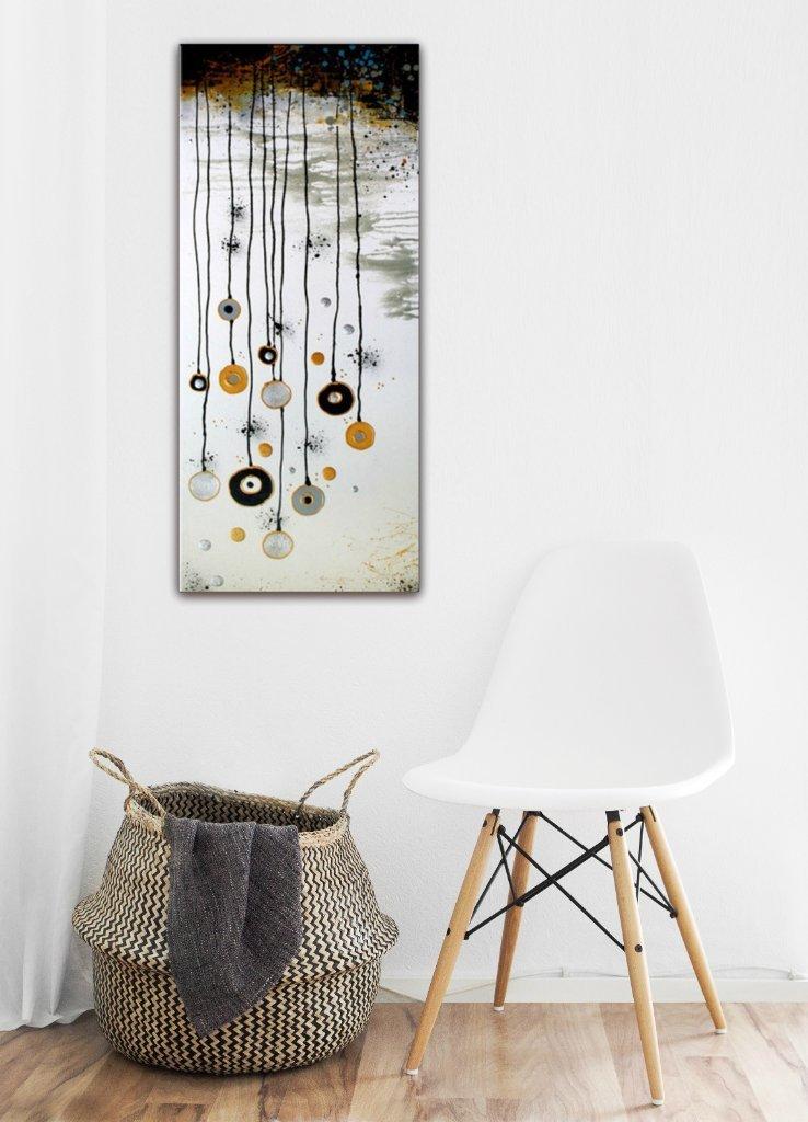 schilderij White Garden (omgekeerd!) van Ines