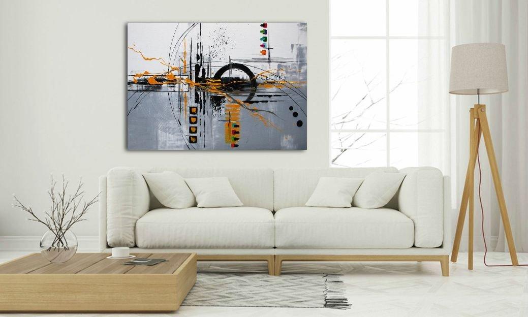 schilderij Yellow van Ines