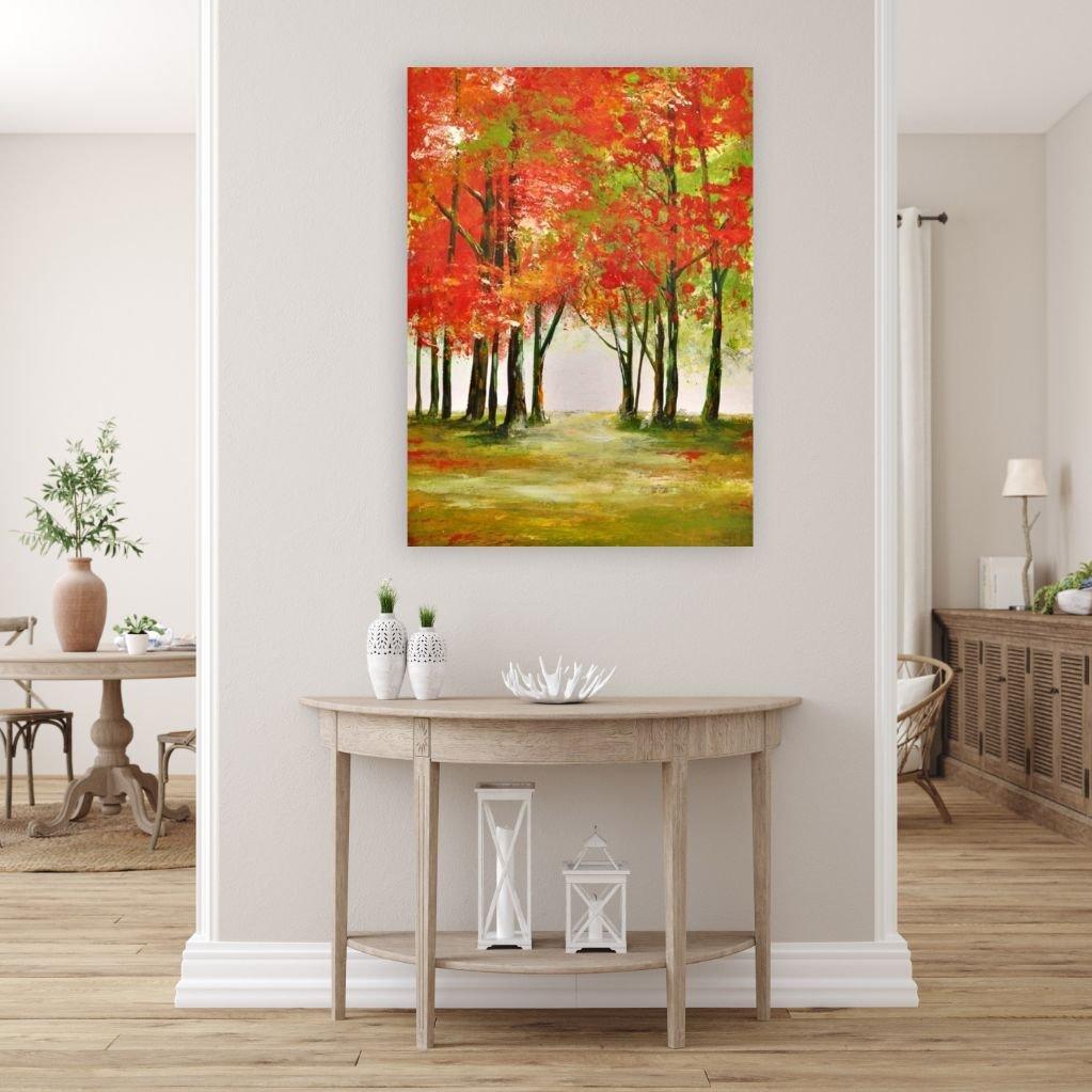 interieurfoto schilderij Autumn Woods van Alekandra