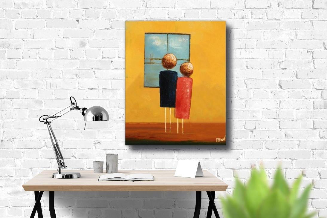 schilderij Breathtaking View van Irina boven thuiswerkplek
