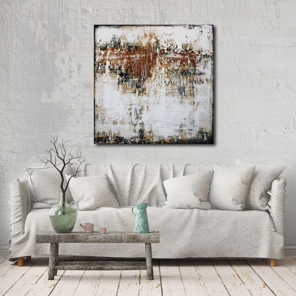 interieurfoto schilderij Broken Walls van Ines