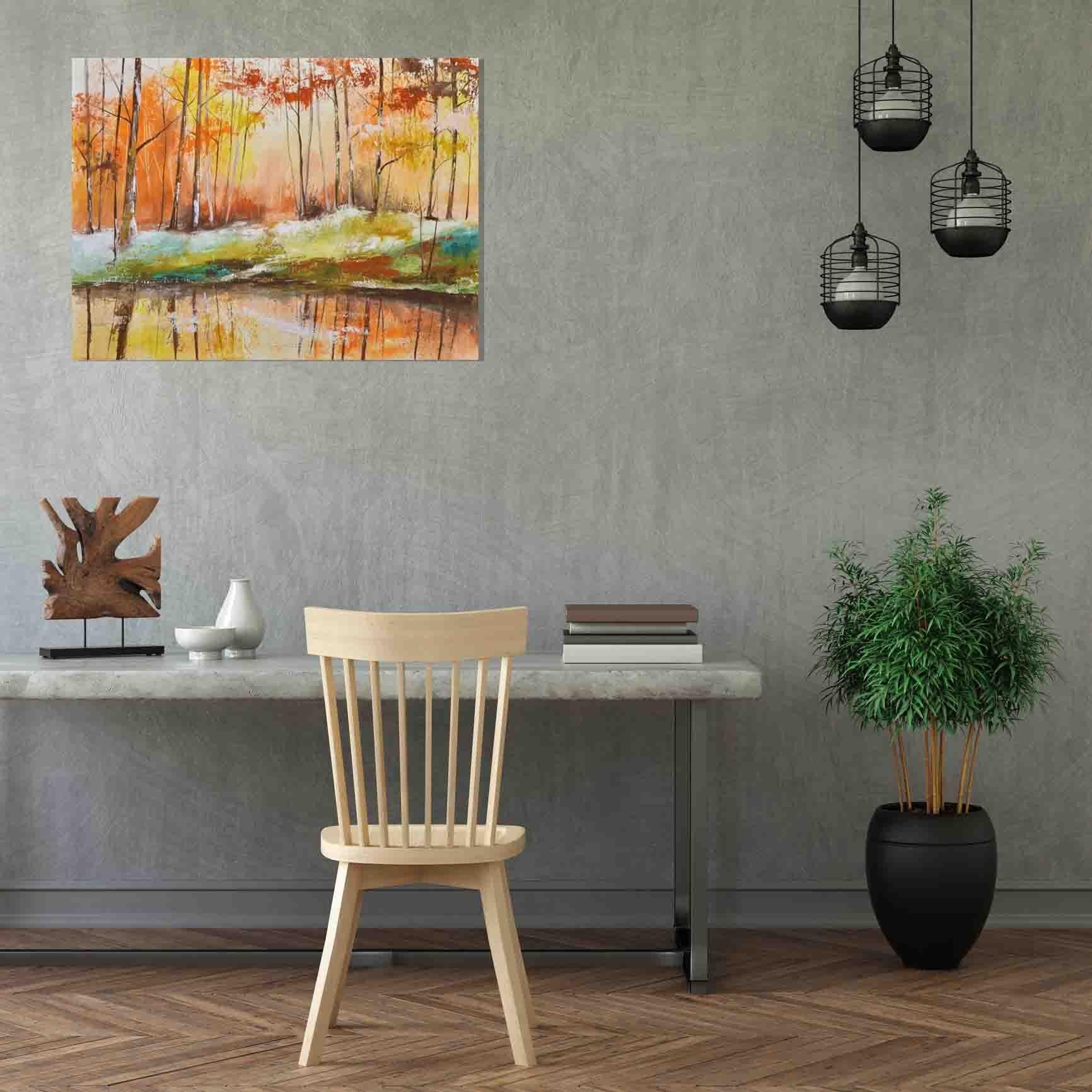 schilderij Forest Impression van Aleksandra