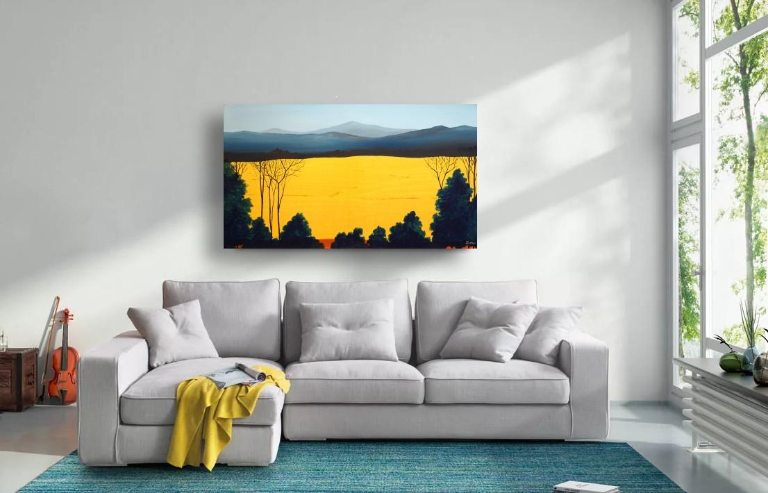 interieurfoto schilderij Golden Field van Buttner