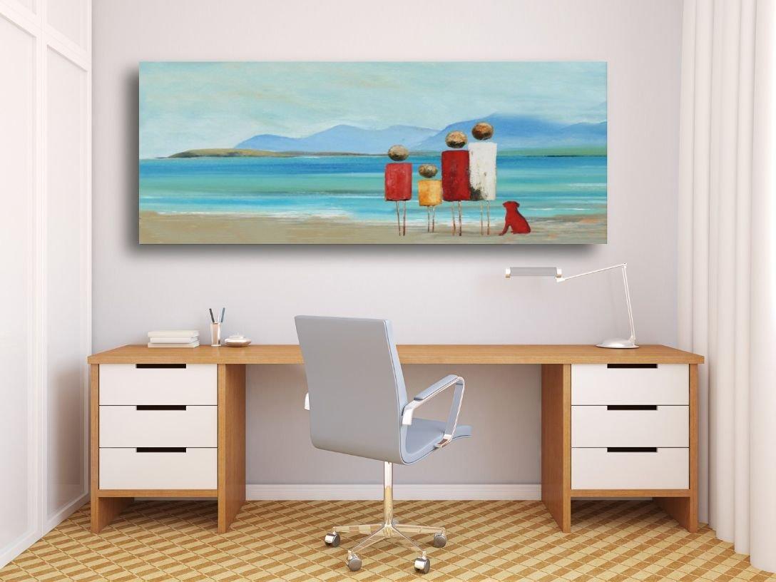 schilderij High Tide van Irina boven thuiswerkplek