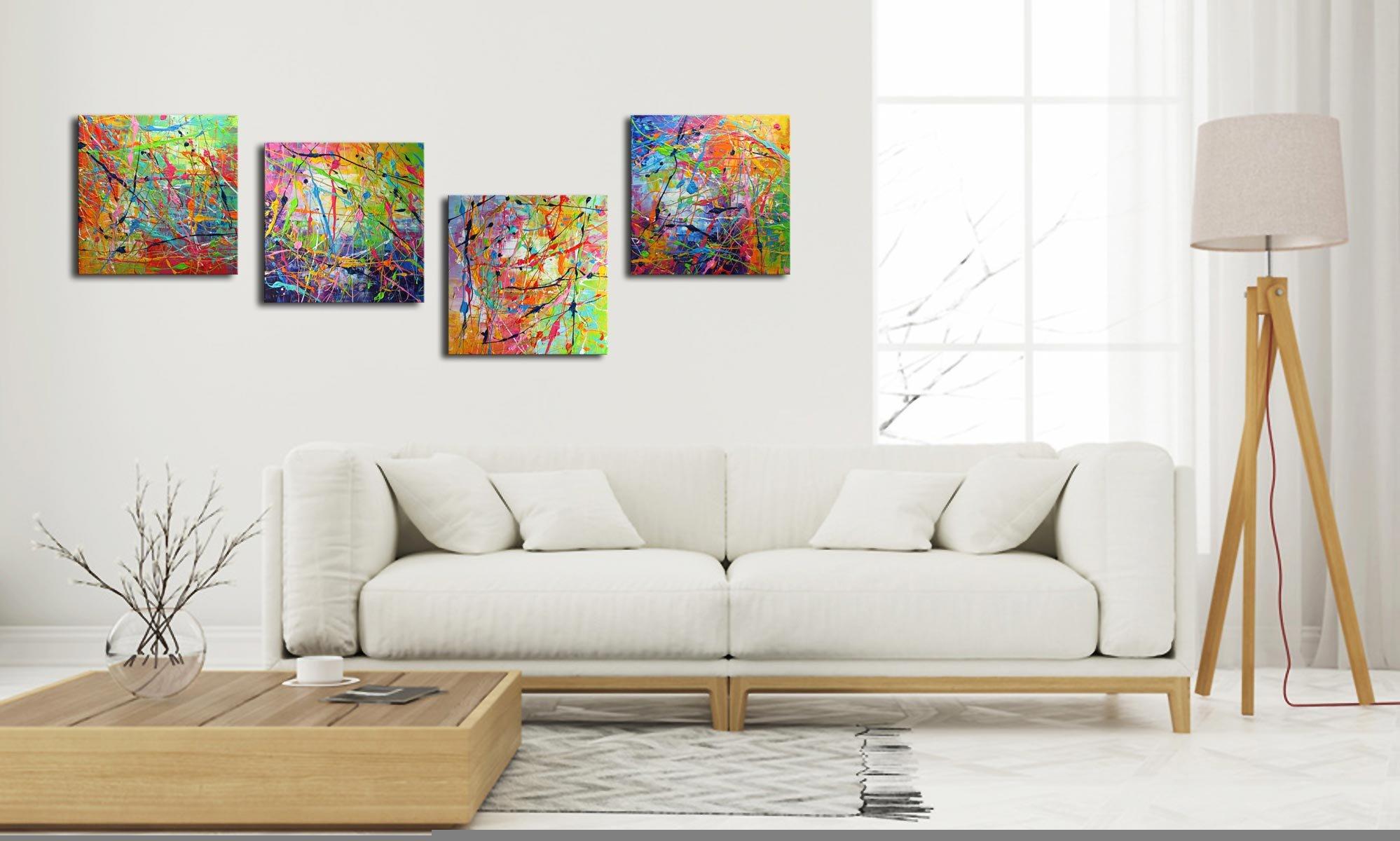 vierluik schilderij Holi van Ines