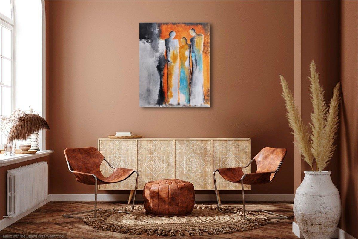 interieurfoto schilderij In Good Company van Aleksandra