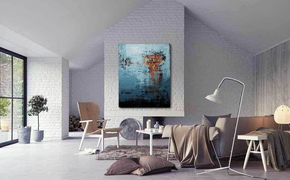 interieurfoto schilderij Wintersun van Ines