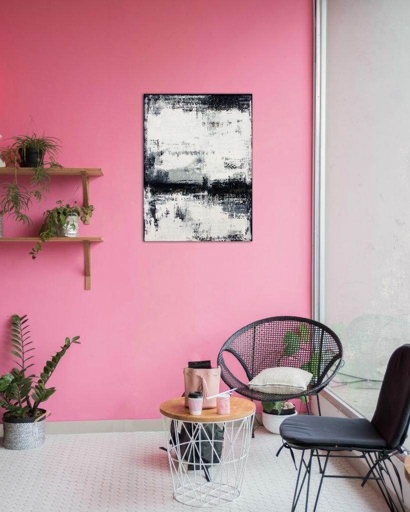 interieurfoto schilderij Gold Vein van Ines