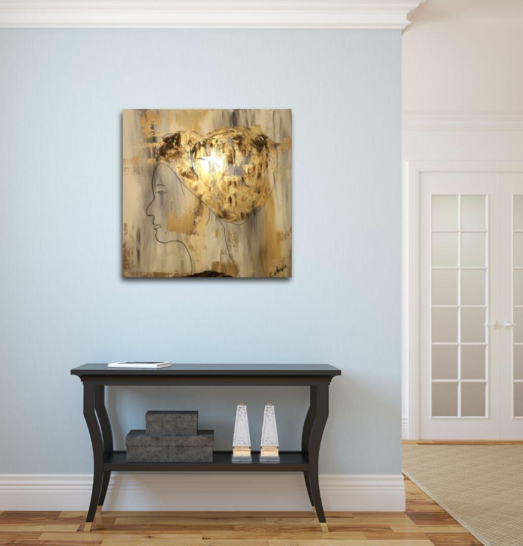 interieurfoto schilderij She van Sacha