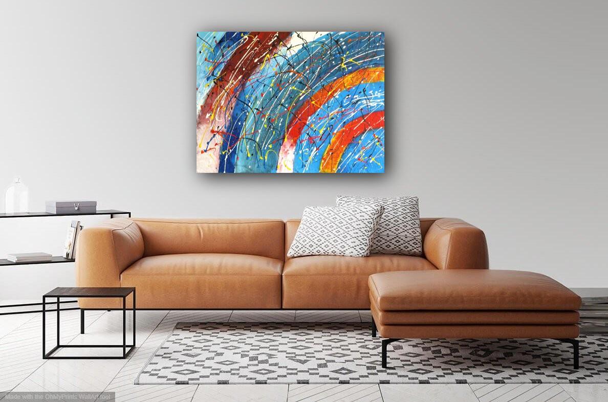 interieurfoto schilderij Spinning Colours van James