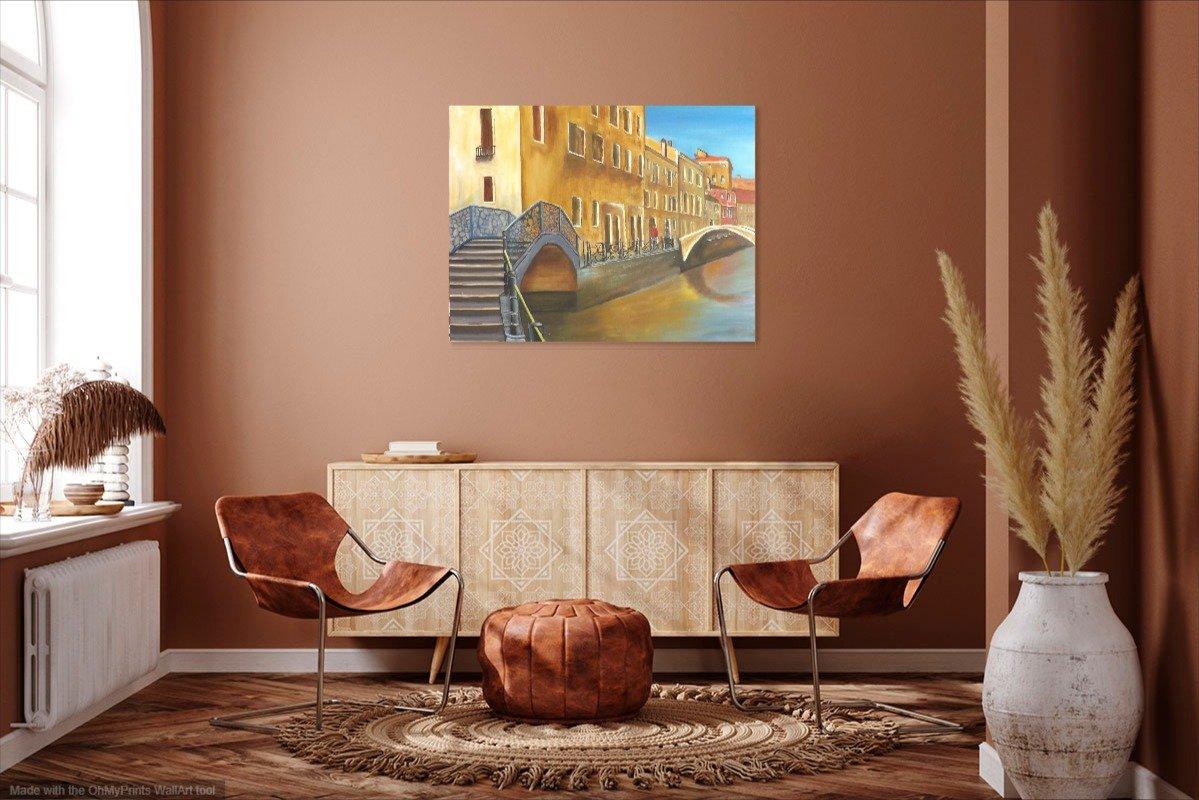 interieurfoto schilderij Memories of Venice van James