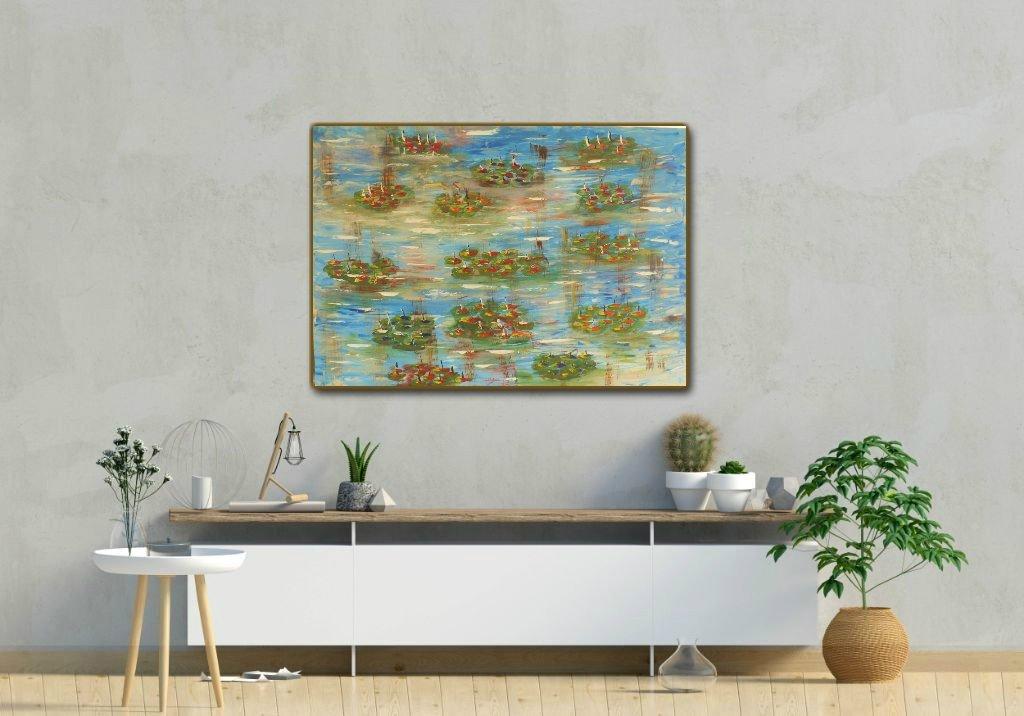interieurfoto schilderij Monet Revisited van James