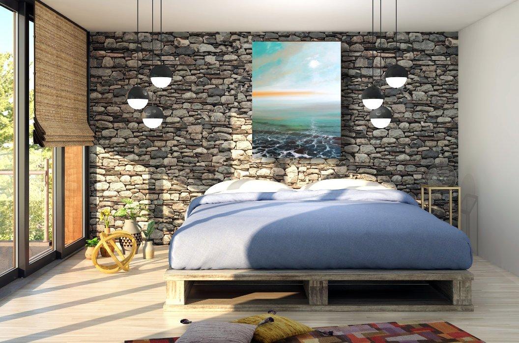 interieurfoto schilderij Riff Wave van Buttner