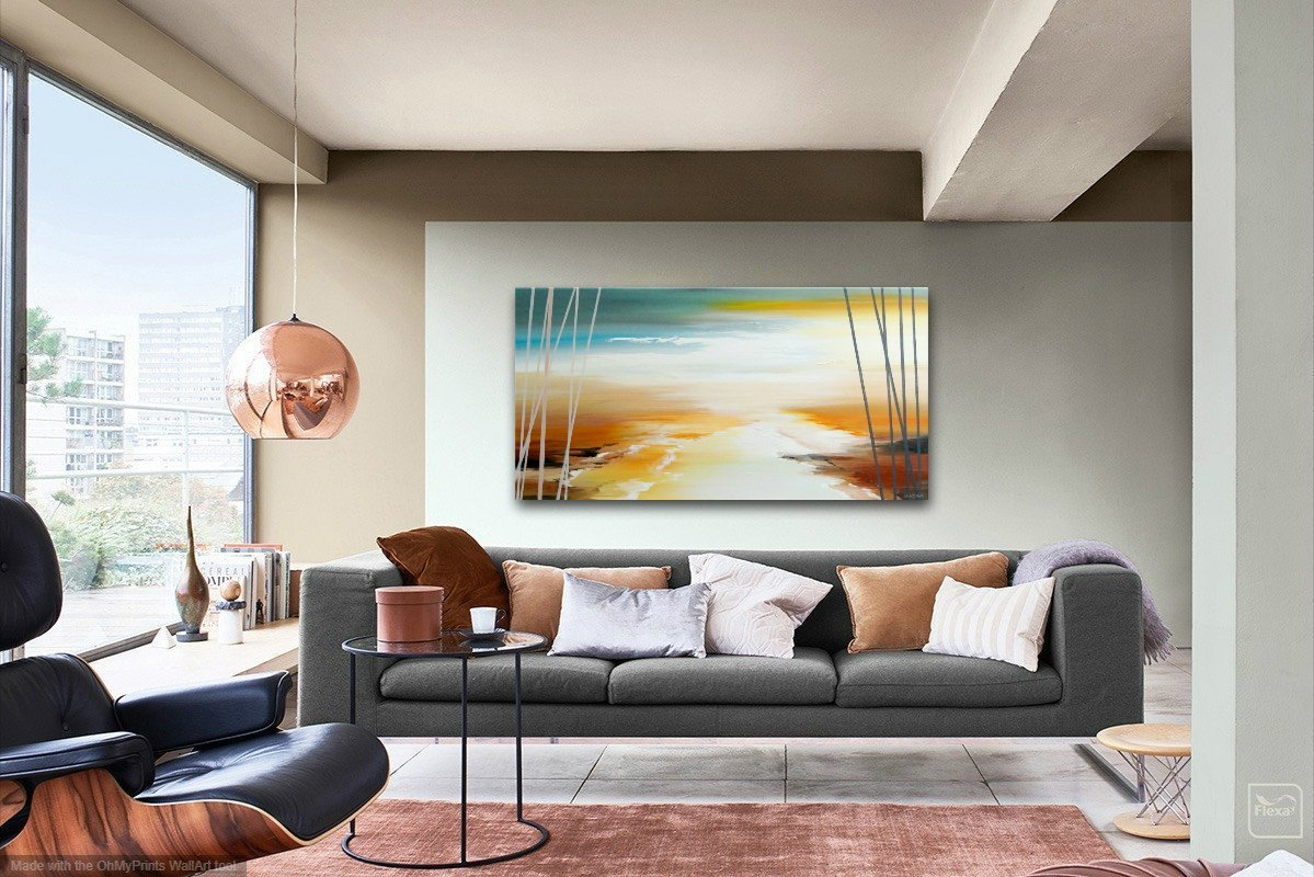 interieurfoto schilderij Wild Ocean van Buttner