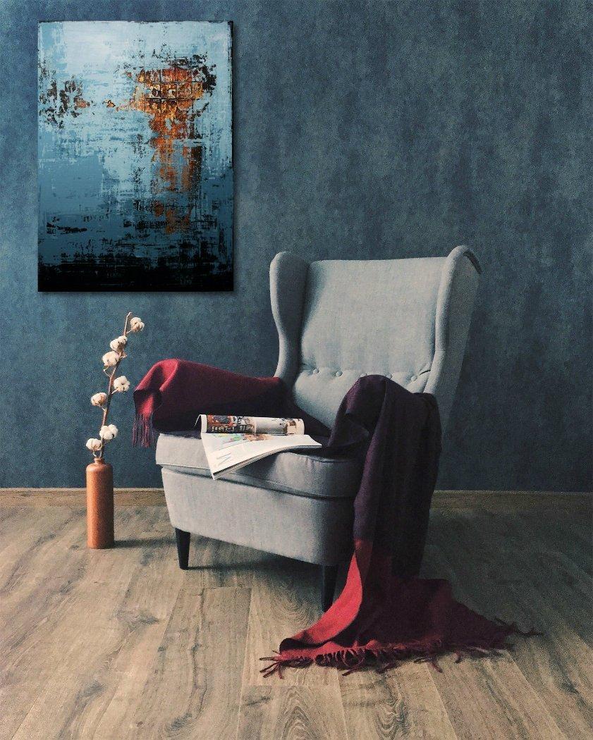 interieurfoto schilderij Winter Sun van Ines