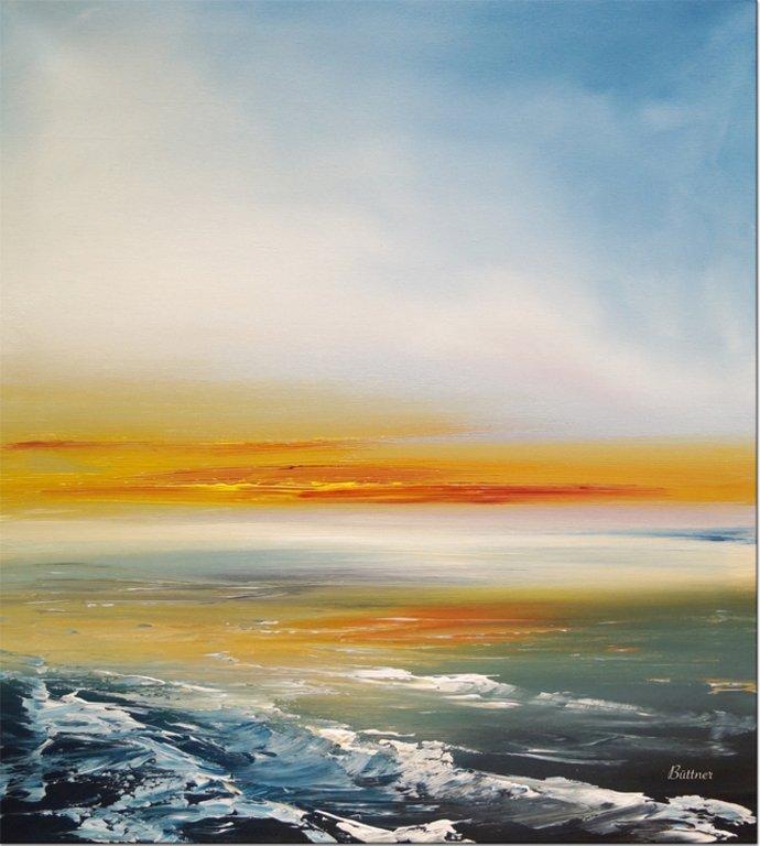 schilderij Ocean Nightfall van Buttner