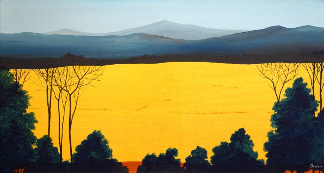 schilderij Golden Field van James