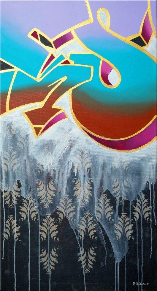 schilderij Street Life van Buttner