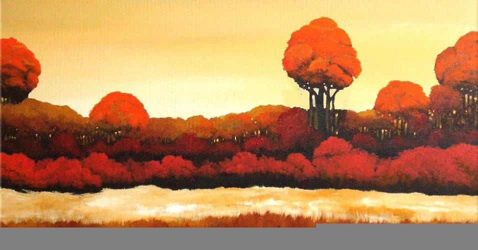 schilderij Autumn Field van Buttner