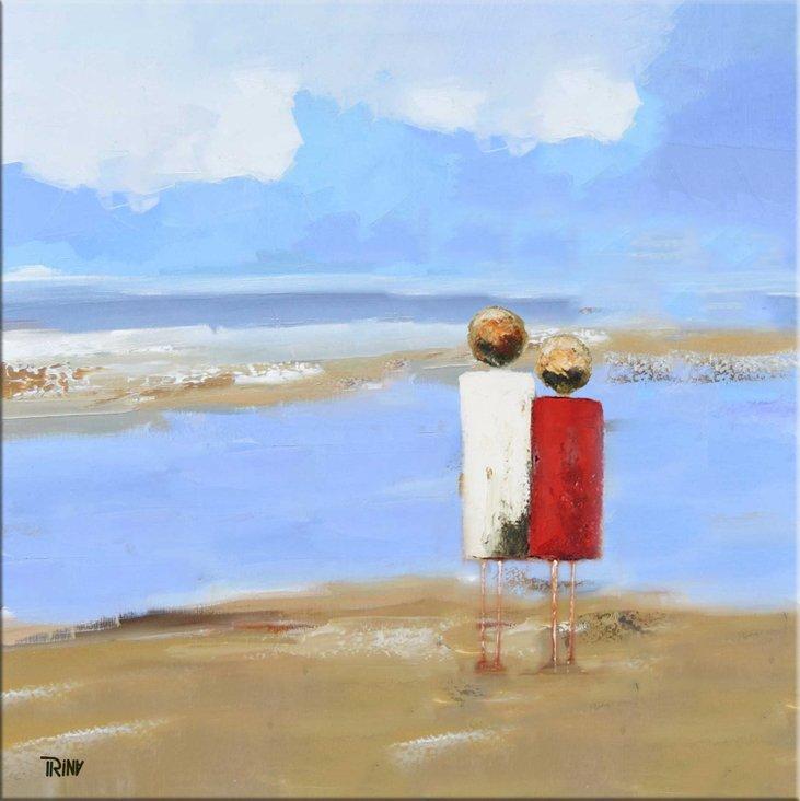 schilderij Beach Walk van Irina