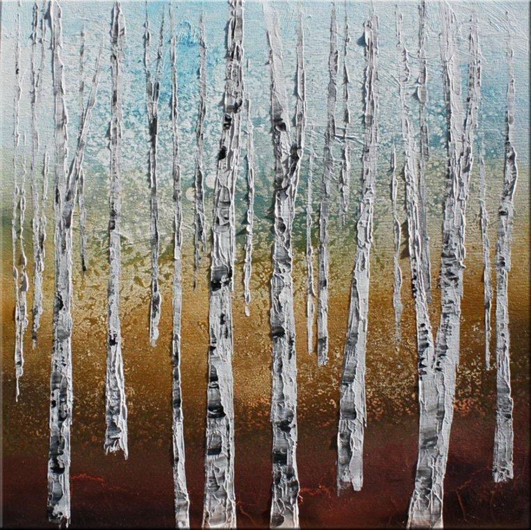 schilderij Birchwood van Ines