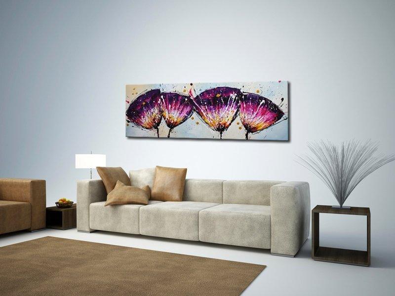 schilderij Crazy Flowers van Ines