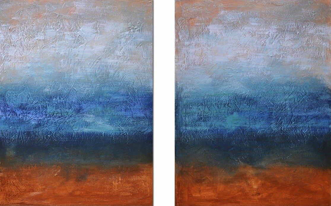 tweeluik schilderij Dark Skies van Aleksandra
