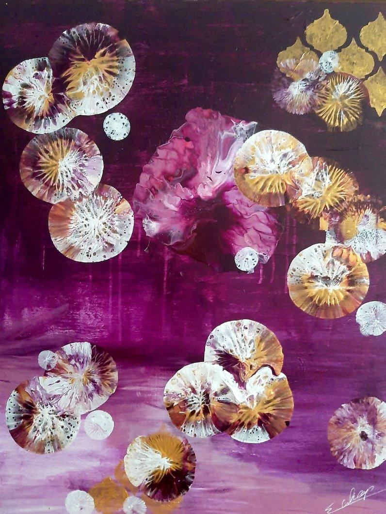 schilderij Deep Purple van Sacha