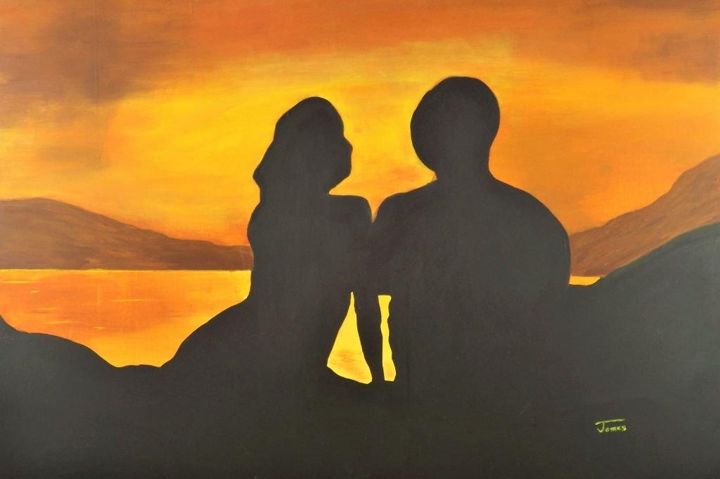 schilderij End of a Perfect day van James