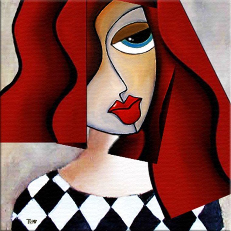 schilderij Femme Fatale van Irina
