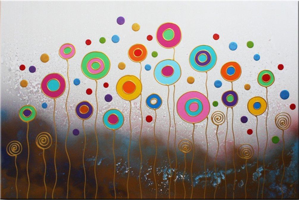 schilderij Funny Flowers van Ines