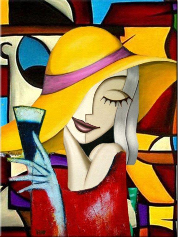 schilderij Happy Hour van Irina