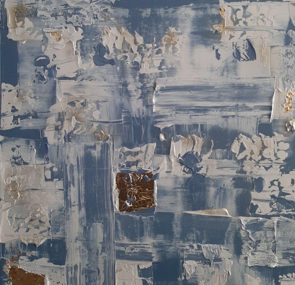 schilderij Icecold Gold van Sacha