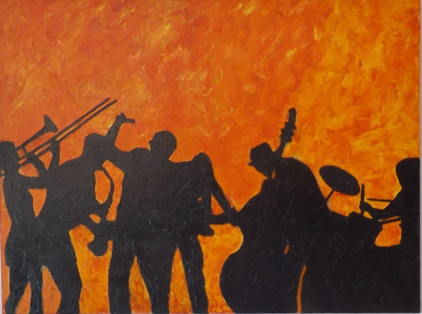 schilderij Making Jazz Alive van James